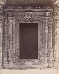 Close view of east or main doorway, Kashivishveshvara Temple, Lakkundi